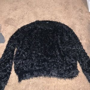Black Furry Sweater